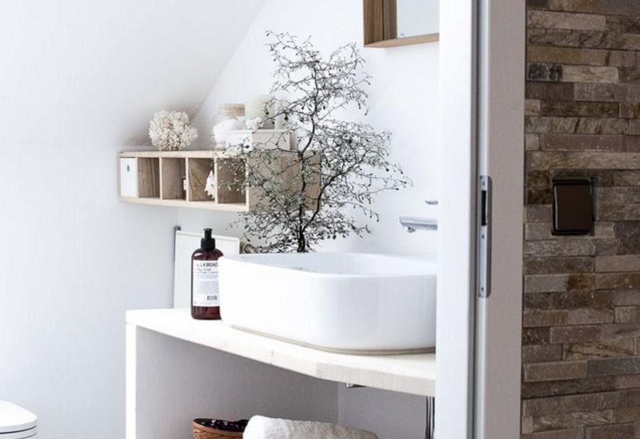 Interieur | De natuur in de badkamer - Woonblog StijlvolStyling.com (Nature bathroom style)