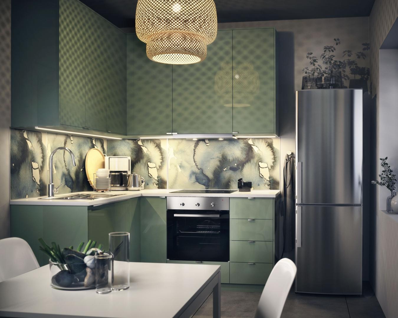 Keuken Kleur Groen : Design aan de keukenmuur