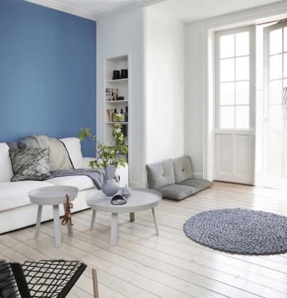 Binnenkijken | Scandinavisch wonen in wit en blauwtinten