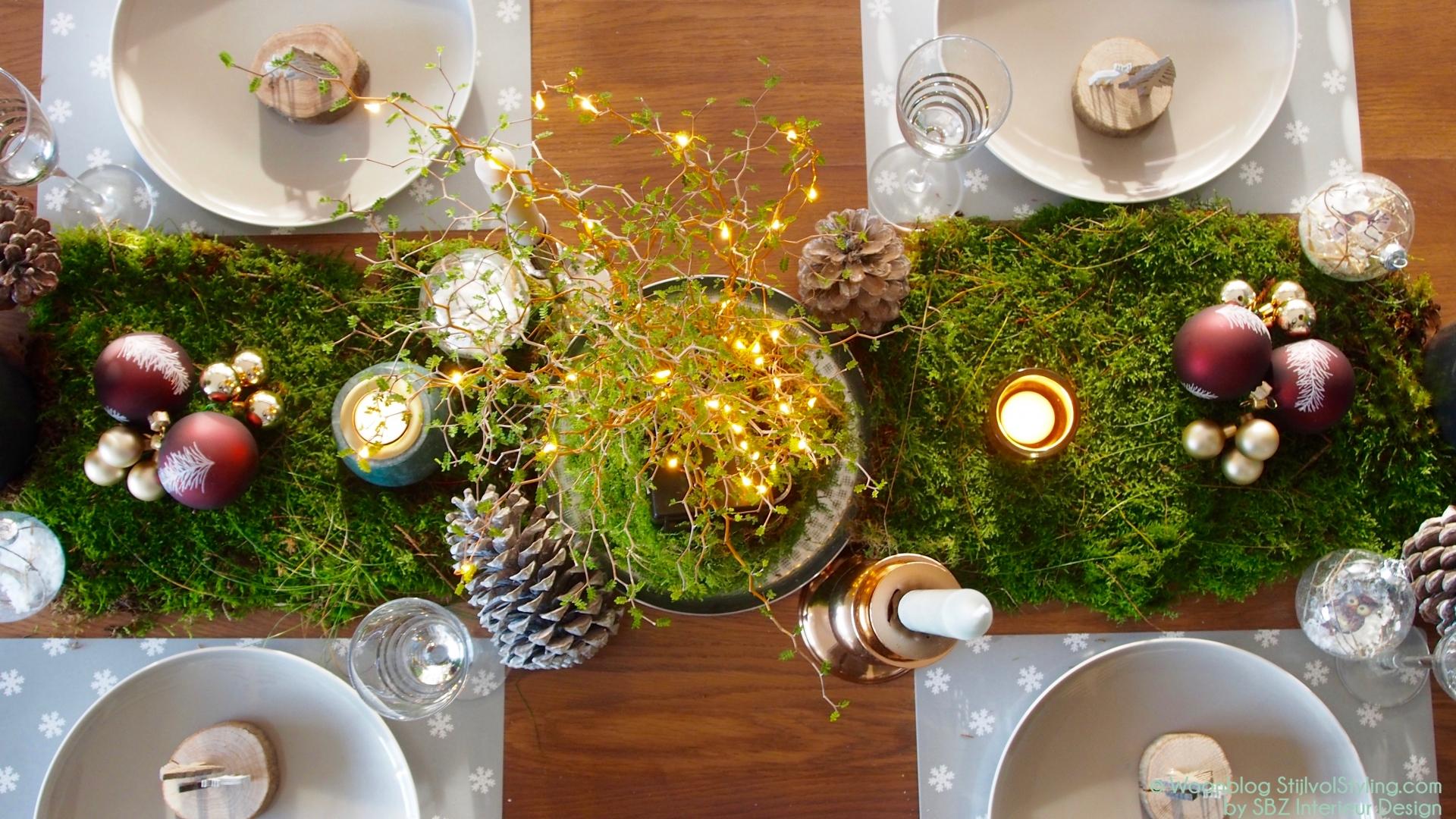 Feestdagen natuurlijke feest of kersttafel decoratie for Decoratie 2018