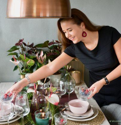 Groen wonen | Feest- en kersttafel decoratie met de Anthurium